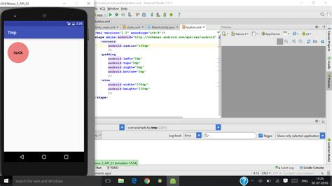 xml layout emulator xml varying output in emulator and android device