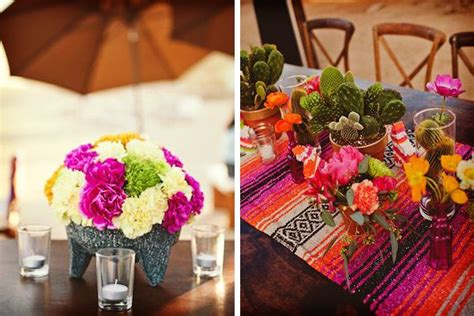 ideas para una boda con tema mexicana chic bodas