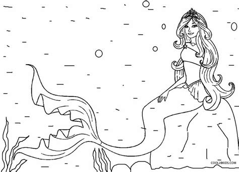 free coloring pages barbie mermaid printable mermaid coloring pages for kids cool2bkids