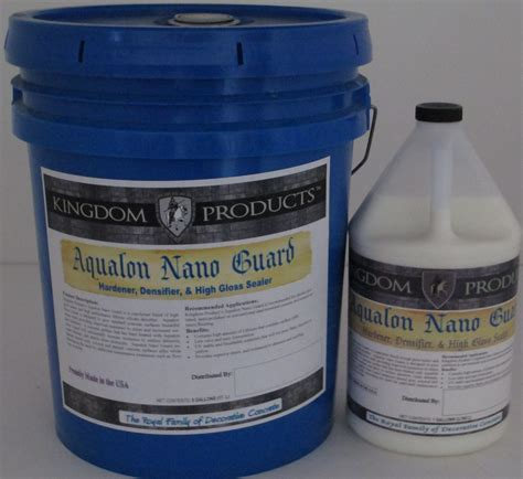 Sealant Guard Aqualon Nano Guard Sealer Concrete Texturing