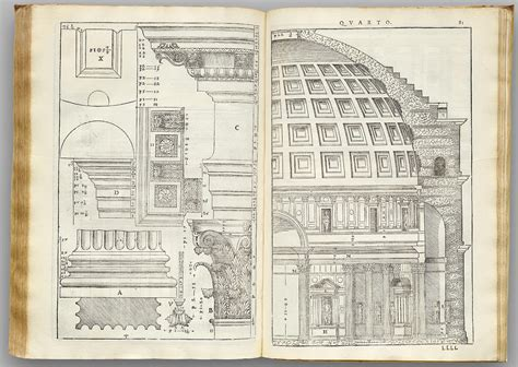 libro palladio facsimilium quattro libri dell architettura the four books of architecture 16th century