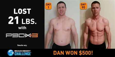 Results Transformation 21 Day Detox by P90x3 Results Dan Lost 21 Pounds In 90 Days The