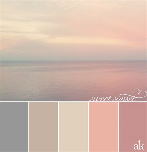 calmest color a sunset inspired color palette akula kreative