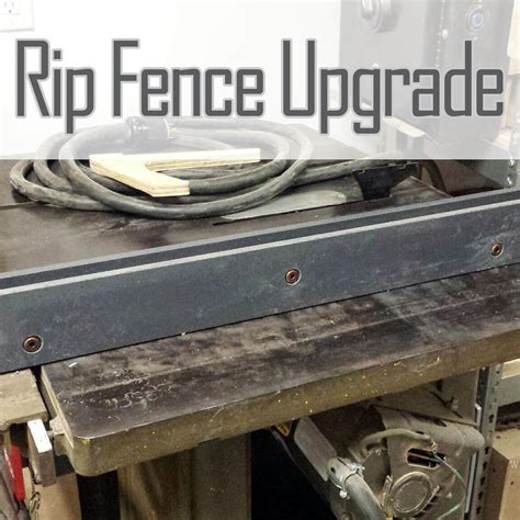 Table Saw Fence Upgrade by Table Saw Rip Fence Upgrade Wood Shop Mike