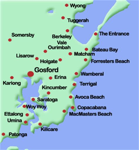 map of the central coast central coast delivery service