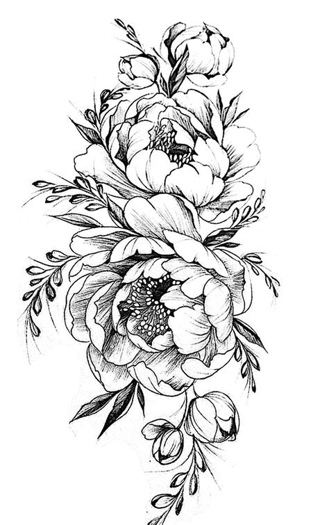 peony flower tattoo designs best 25 flower designs ideas on ankle
