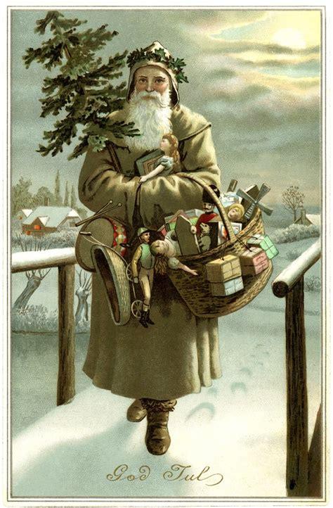 Sinterklas Belt Santa Claus Card Kartu Pos Postcard Natal happy vintage karla akins