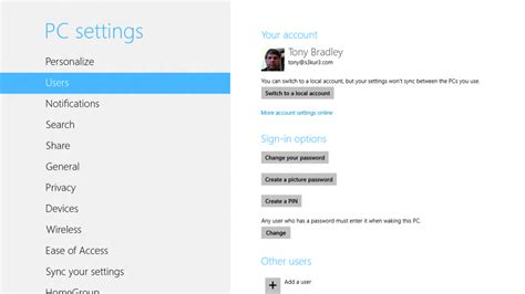 unable to access pc settings in windows 8 1 microsoft adding and managing users in windows 8 pcworld