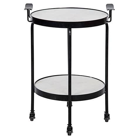 black metal side table berend industrial black metal wheeled side table
