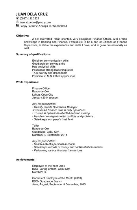 targeted resume format sle targeted resume