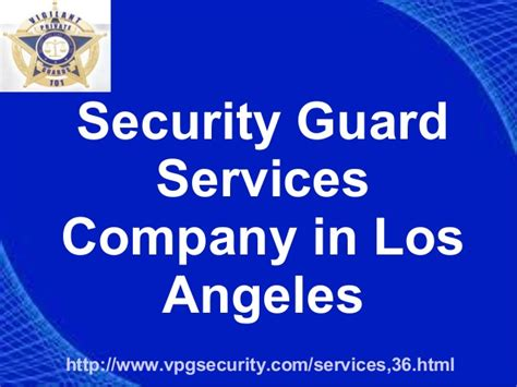 security guards services company in los angeles