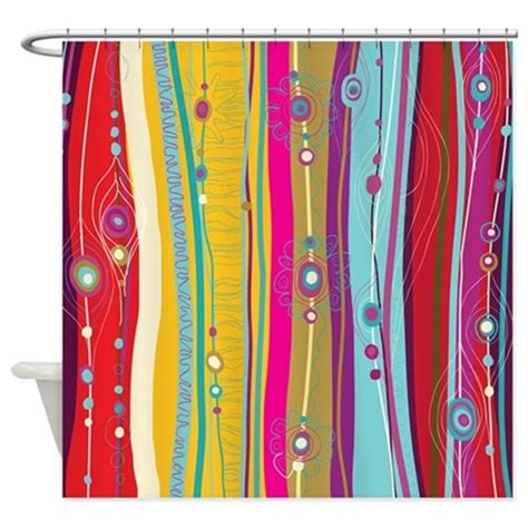 funky shower curtain funky stripes shower curtain by bestshowercurtains
