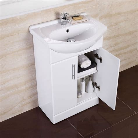 Furniture For Small Bathrooms White Small Compact Basin Vanity Unit Bathroom Cloakroom Furniture 550 Tap