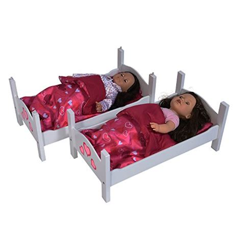 doll beds for 18 inch dolls bunk bed for twin dolls fits 18 inch dolls import it all