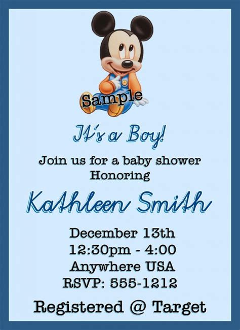 free mickey mouse baby shower invitation templates ls26 baby mickey mouse baby shower invitations