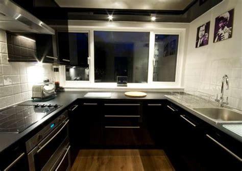 black gloss kitchen ideas black floor tiles feel the home