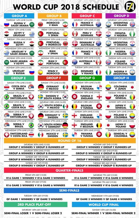 world cup 2018 schedule footy accumulators on quot the ultimate world cup