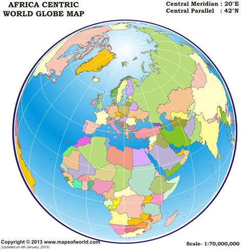 printable world map for globe world globe map africa centric