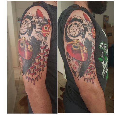 princess mononoke tattoo inked wednesday 41 princess mononoke legend of