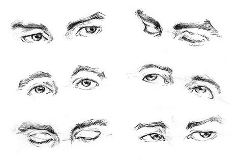 sketchbook exercises how to draw eye basic brown hairs
