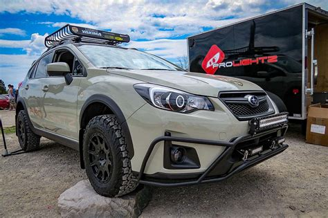 subaru crosstrek lifted blue 2016 crosstrek prolightz project car lp aventure inc