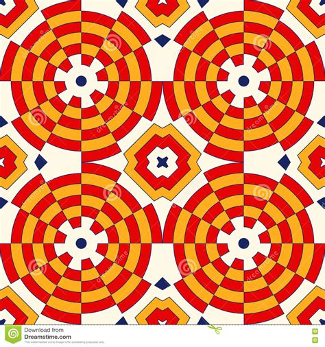 vector seamless pattern abstract background with round bright ethnic abstract backdrop colorful kaleidoscope