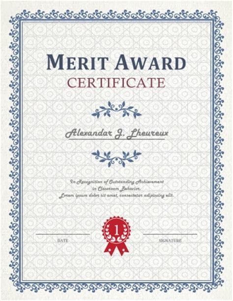 27 printable award certificates achievement merit honor