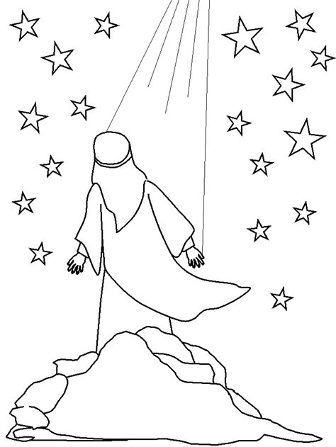 coloring page abraham stars the jesse tree december 5 abraham young catholic mums