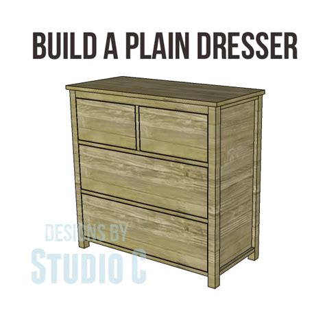 How To Build A Dresser Drawer by Free Diy Woodworking Plans To Build A Plain Dresser