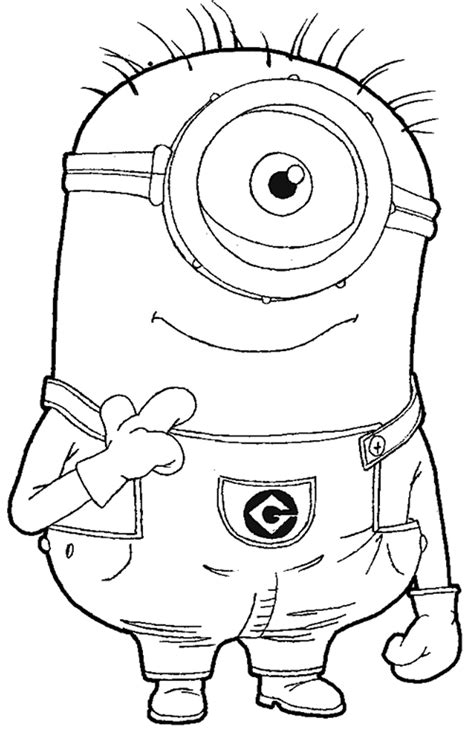 coloring pages minion stuart colorear minion stuart los minions