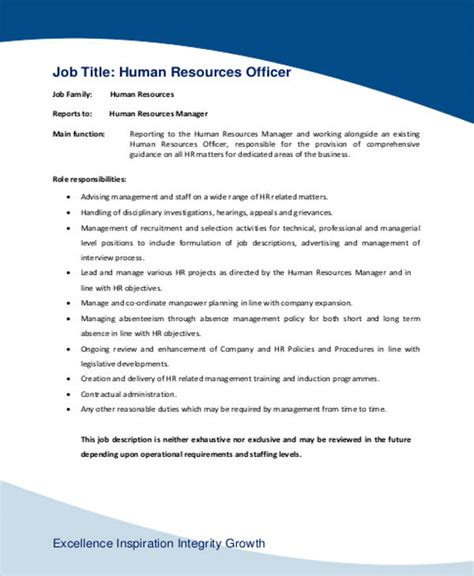 hr manager description 2 and responsibilities hr executive in a company hr