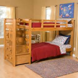 Hayneedle Bunk Beds Heartland Bunk Bed With Stairs Storage Beds At Hayneedle