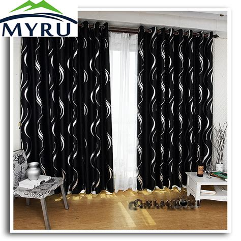 black and silver curtains myru new arrival beautiful full shade blakcout curtains