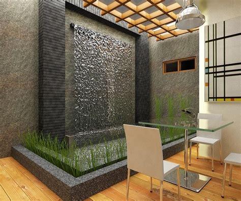 desain aquarium dinding desain taman air terjun dinding rumah minimalis rumah