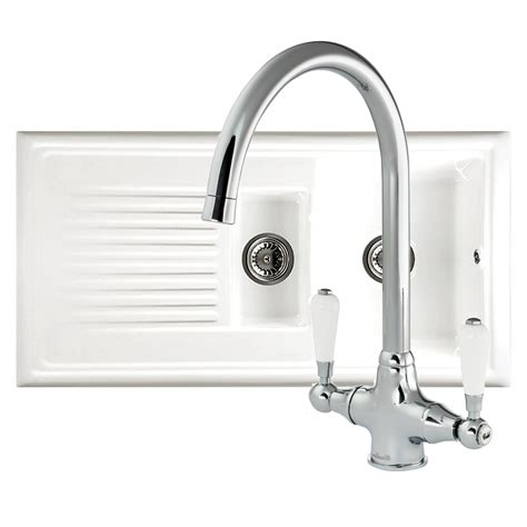 Reginox Kitchen Sink Reginox Rl301cw Ceramic Sink And Elbe Tap Sinks Taps