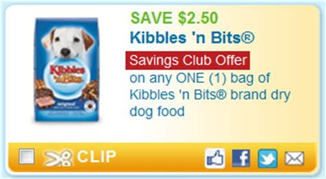 printable coupons and deals kibbles n bits dog food high value 2 50 1 kibbles n bits dog food for savings