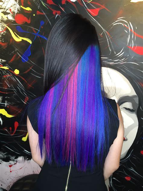 peekaboo color peek a boo vibrant hair colour designs suitable for work