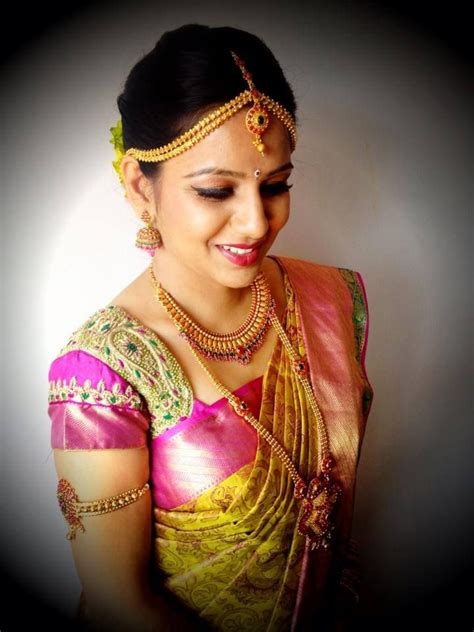 on pinterest saree blouse south indian bride and bridal sarees south indian bride bridal saree makeup jewellery