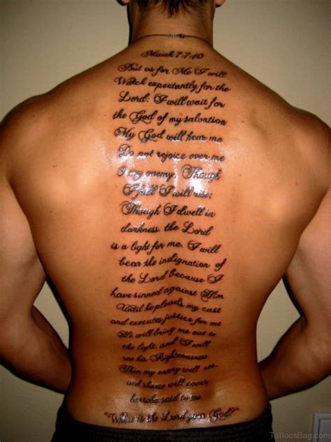 52 Religious Bible Verses Tattoos Designs On Back Bible Verse Tattoos