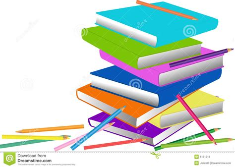 pictures of books and pencils books and pencils royalty free stock photos image 6131918