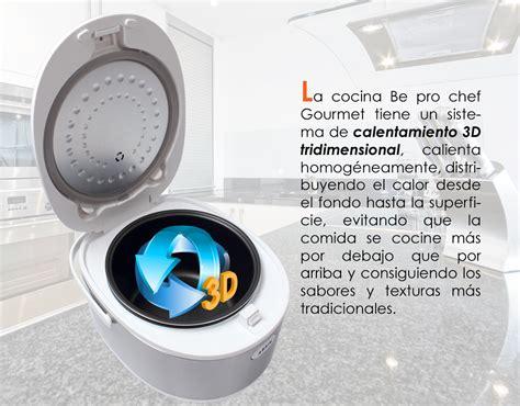 robot de cocina be pro chef robot de cocina be pro chef gourmet 3d con voz mundococina