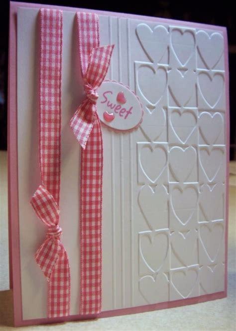 Sweet Handmade Cards - sweet handmade card cuttlebug hearts