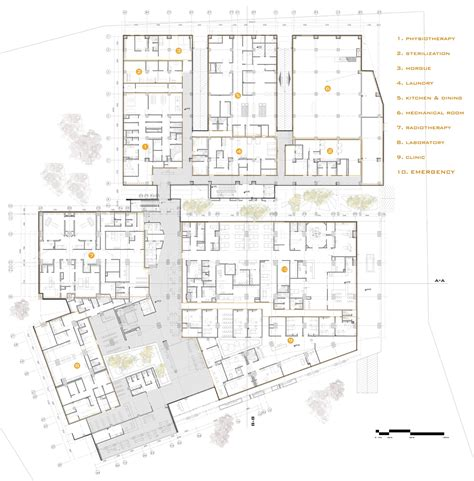 Floor Plan View gallery of pars hospital new wave architecture 29