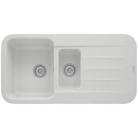 Franke Kitchen Sink Reviews Franke Pebel Pbg 651 Fragranite Polar White 1 5 Bowl Inset Sink 114 0251 262