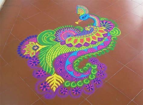 Top 50  Latest Best Beautiful Easy Peacock Rangoli Design