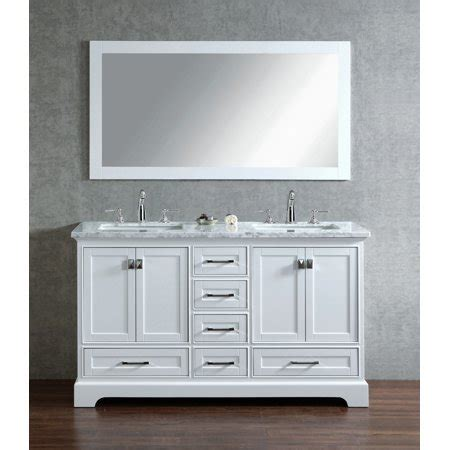 White 60 Inch Vanity by Newport White 60 Inch Sink Bathroom Vanity With