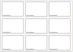 Printable Template by Free Printable Flash Cards Template