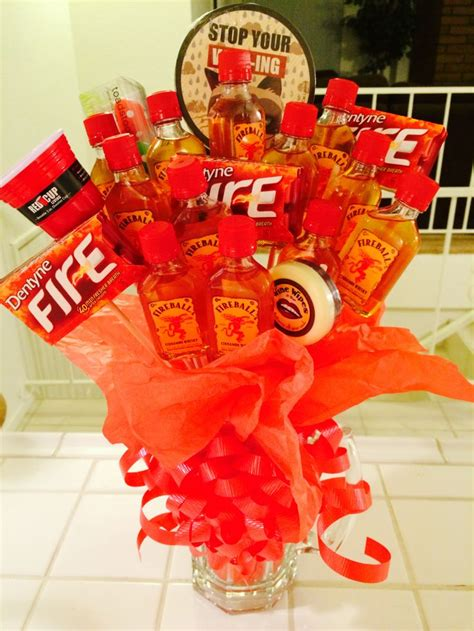 fireball man bouquet perfect  valentines day