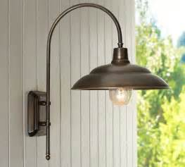 Patio Lights Pottery Barn Barnham Sconce Traditional Outdoor Wall Lights And