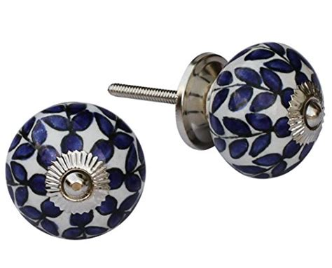 leaf pattern drawer pulls items on sale set of 2 unique ceramic knobs round door